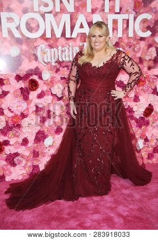 Rebel Wilson at the Los Angeles premiere of 'Isn't It Romantic' held at the Ace Hotel Theatre in Los Angeles, USA on February 11, 2019.