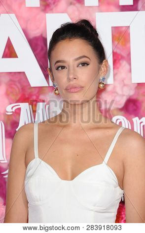 Chloe Bridges at the Los Angeles premiere of 'Isn't It Romantic' held at the Ace Hotel Theatre in Los Angeles, USA on February 11, 2019.