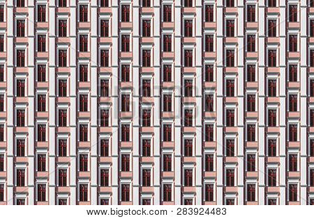 Architectural Pattern, Shifted Windows Of An Old Berlin House
