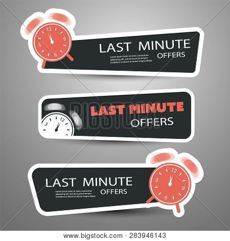 Last Minute Offer Vector Headers Or Banners Template For Your Advertisement