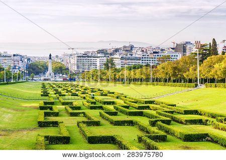 Lisbon,portugal. Parque Eduardo Vii Of The City Of Lisbon