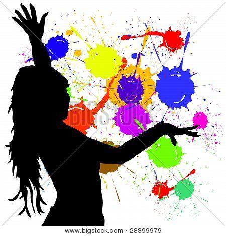 Dancing Girl Silhouette