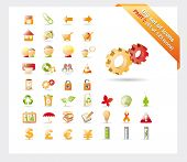Big set of glossy vector icons: PART 2 - see parts 1 and 3 poster