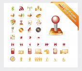 Big set of glossy vector icons: PART 3 - see parts 1 and 2 poster