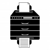 Multifunction printer icon. Simple illustration of multifunction printer vector icon for web design isolated on white background poster