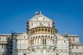 Duomi di Pisa front view. Famous Toscana landmark and unesco heritage. Italy. poster