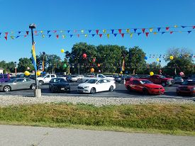 The Car Company Suzuki, Car Dealership Lot Filled With Cars, Warsaw, In, September 23, 2018
