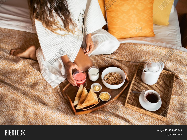 Healthy Breakfast Bed Image Photo Free Trial Bigstock