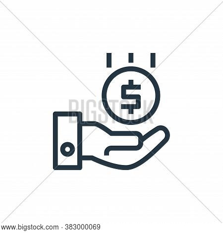 money icon isolated on white background from business and money collection. money icon trendy and mo