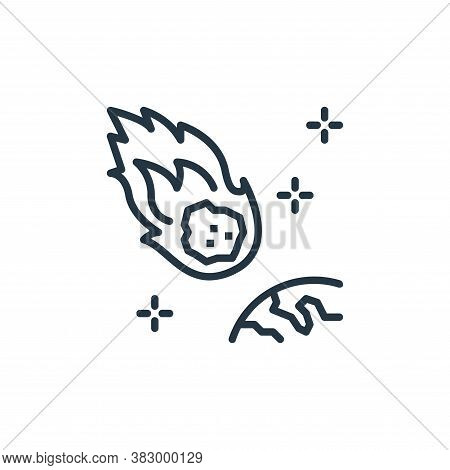 meteor icon isolated on white background from space collection. meteor icon trendy and modern meteor