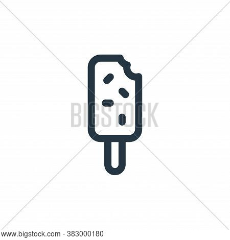 Ice Pop Icon From Ice Pop Collection Isolated On White Background.