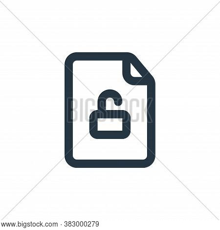 unlocking icon isolated on white background from file and folder collection. unlocking icon trendy a