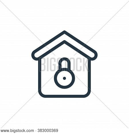 lock icon isolated on white background from smarthome collection. lock icon trendy and modern lock s