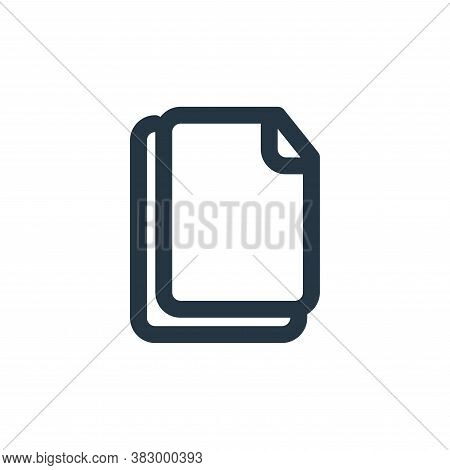 copy icon isolated on white background from text editor collection. copy icon trendy and modern copy