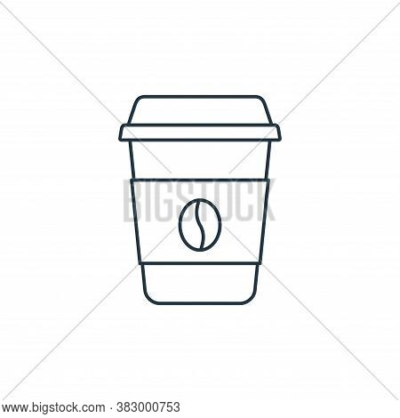 coffee cup icon isolated on white background from coffee shop collection. coffee cup icon trendy and
