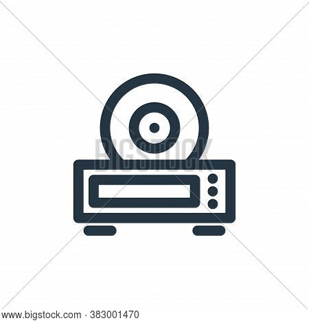 cd player icon isolated on white background from technology collection. cd player icon trendy and mo