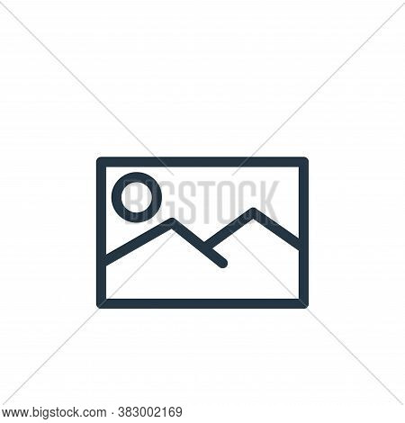 picture icon isolated on white background from communication and media collection. picture icon tren