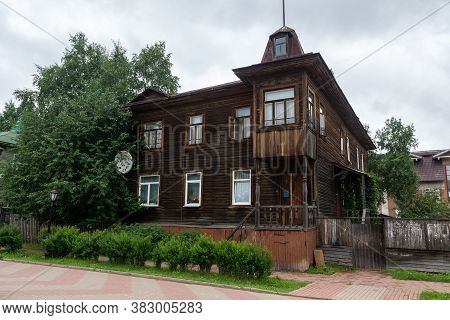 Old Wooden Building In A Provincial Town