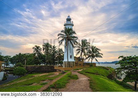 Galle Lighthouse And Coast In Galle, Sri Lanka