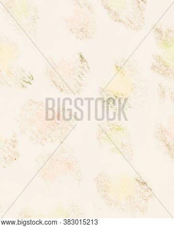 Abstract Artistic Artwork. Pastel Beige Shimmering Modern Art. Beige Colors Textured Smears On Canva