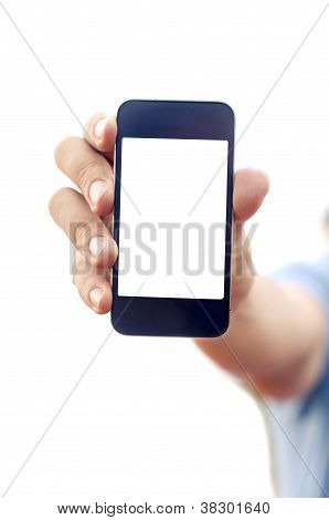 Man Hand Holding Smartphone Or Phone
