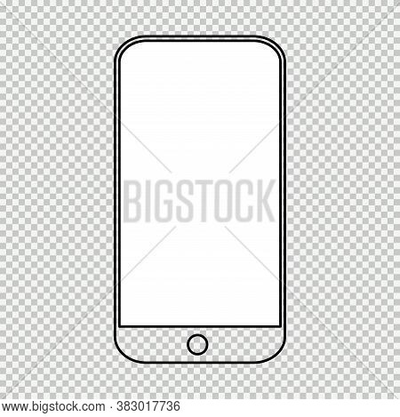Smart Mobil Phone Mock Up, Smartphone Technology Template, Modern Blank Telephnone, Realistic Vector
