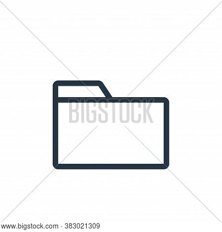 folder icon isolated on white background from office equipment collection. folder icon trendy and mo