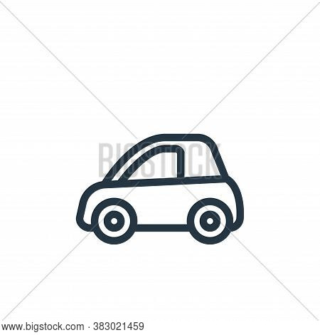 small car icon isolated on white background from vehicles collection. small car icon trendy and mode