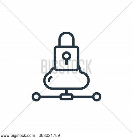 cloud lock icon isolated on white background from cloud computing collection. cloud lock icon trendy