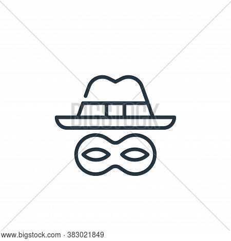 spyware icon isolated on white background from cyber security collection. spyware icon trendy and mo