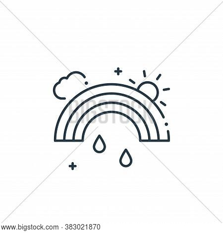 rainbow icon isolated on white background from mother earth day collection. rainbow icon trendy and