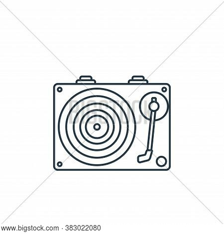 record player icon isolated on white background from birthday party collection. record player icon t