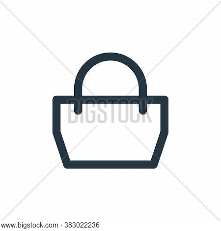 handbag icon isolated on white background from style accessories collection. handbag icon trendy and