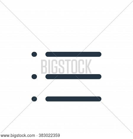 bullets icon isolated on white background from text editor collection. bullets icon trendy and moder