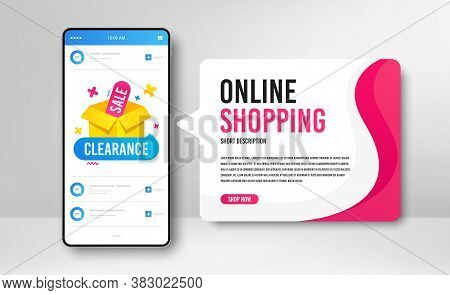 Phone Banner Template. Clearance Sale Icon. Discount Banner Box. Special Offer Icon. Social Media Ba