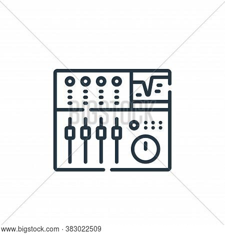 synthesizer icon isolated on white background from rock and roll collection. synthesizer icon trendy