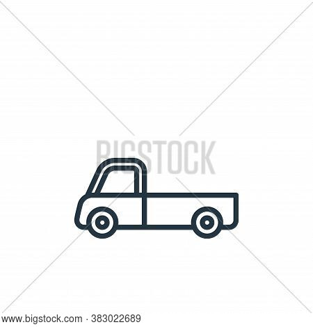 pickup icon isolated on white background from vehicles collection. pickup icon trendy and modern pic
