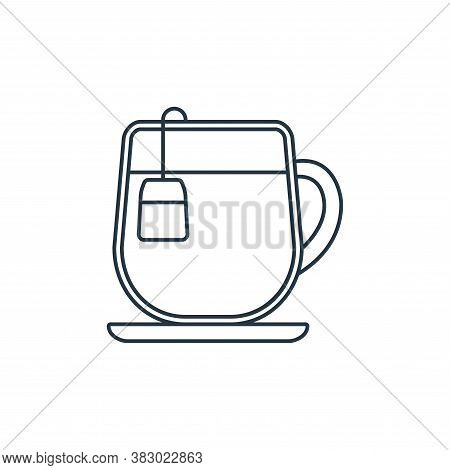 tea cup icon isolated on white background from coffee shop collection. tea cup icon trendy and moder