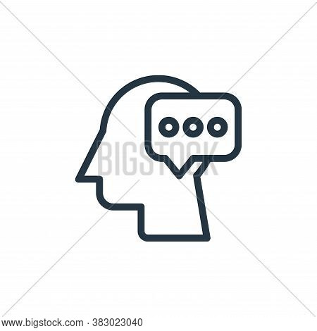 thinking icon isolated on white background from business and money collection. thinking icon trendy