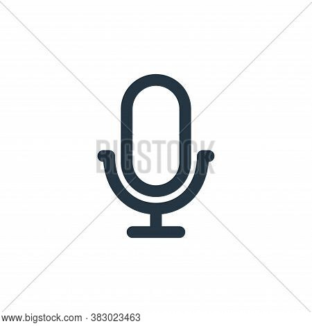 voice recorder icon isolated on white background from user interface collection. voice recorder icon