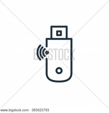 usb modem icon isolated on white background from internet of thing collection. usb modem icon trendy