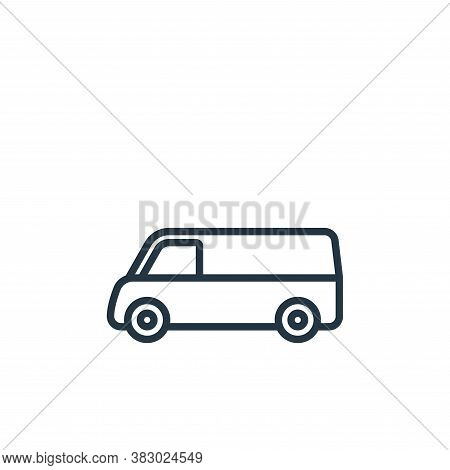van icon isolated on white background from vehicles collection. van icon trendy and modern van symbo