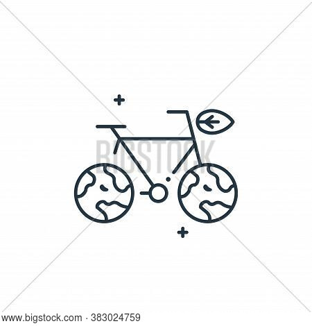 bicycle icon isolated on white background from mother earth day collection. bicycle icon trendy and