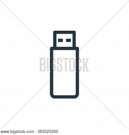 usb flash drive icon isolated on white background from office equipment collection. usb flash drive