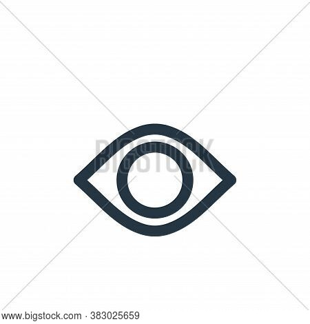 view icon isolated on white background from user interface collection. view icon trendy and modern v