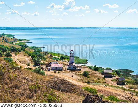 Khutor Merzhanovo, Rostov Region, Russia - August 3, 2020: Taganrog Bay Of The Azov Sea, View Of The