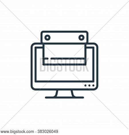 scraping icon isolated on white background from cyber security collection. scraping icon trendy and