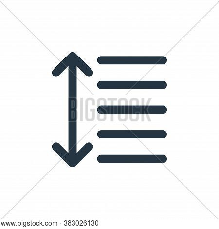 line spacing icon isolated on white background from text editor collection. line spacing icon trendy