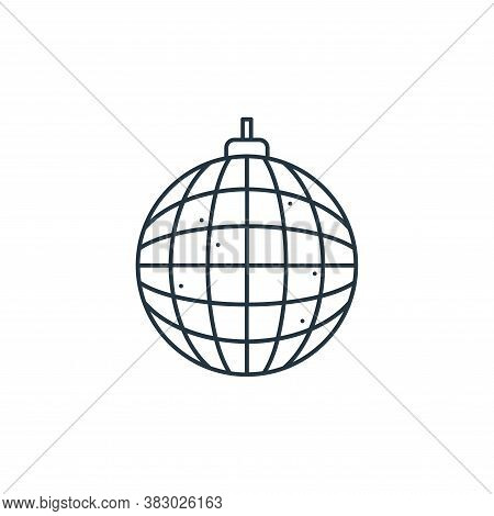 disco ball icon isolated on white background from birthday party collection. disco ball icon trendy