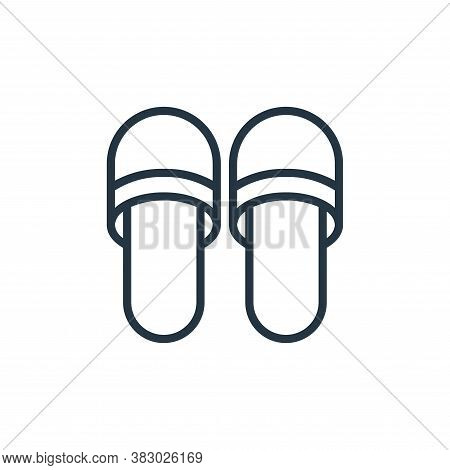 slipper icon isolated on white background from bathroom accessories collection. slipper icon trendy